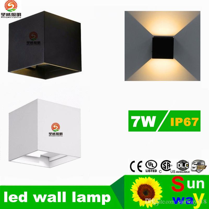 Lampe murale extérieure étanche 7W LED Source Up and Down Lighting Moderne Minimaliste Intérieur Extérieur Ingénierie Porche Jardin Lumière Lumières mur