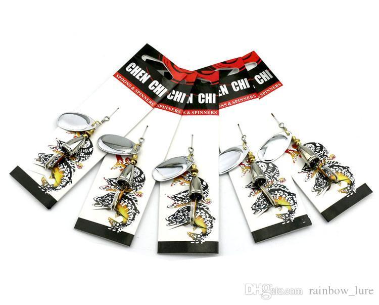 Metal Spinner Yapay yem 8.5g 6.5 cm Alaşım Pul Jig Balıkçılık Lures Rotasyon Jigs Hooks bas Yemler