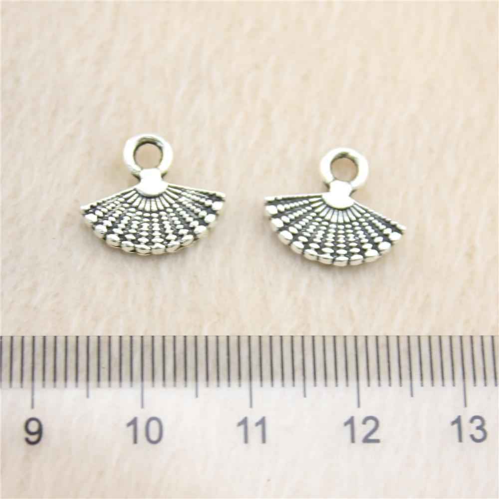 60pcs 14 * 12 milímetros antigos prata Tonefan encantos liga de zinco DIY artesanal jóias atacado Pingentes