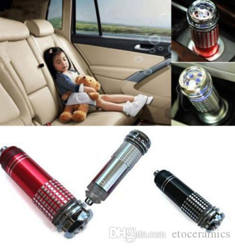 12 V Mini Auto Auto aria più fresca Fresh Air Purifier Oxygen Bar Ionizzatore Lonizer Ionizer Cleaner Una varietà di colori