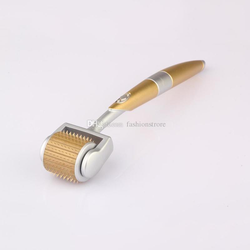 ZGTS 티타늄 마이크로 192 바늘 대머 스킨 롤러 메소 여드름 흉터 주름 안티 - 에이지 페이셜 마사지 롤러