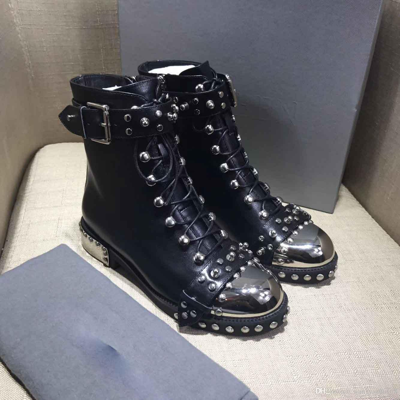 nice shoes most reliable arriving 2018 Studded Boots Ankle Boots European And American Trendsetter Model  Motorcycle Boots A Must Have Item For A Hipster Women Chelsea Boots Shoes  ...