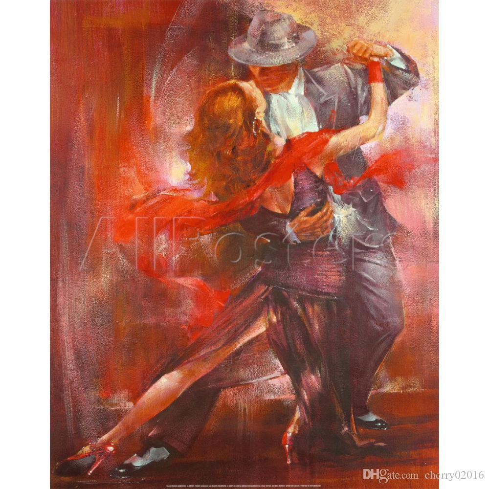 Art impressionniste Figure peintures à l'huile Tango Argentino Willem de décor mural peint à la main de reproduction de Haenraets