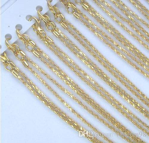 شحن مجاني 10 قطعة / الوحدة الذهب مطلي قلادة سلاسل اكسسوارات لل diy الحرفية مجوهرات هدية 16 inch GO1