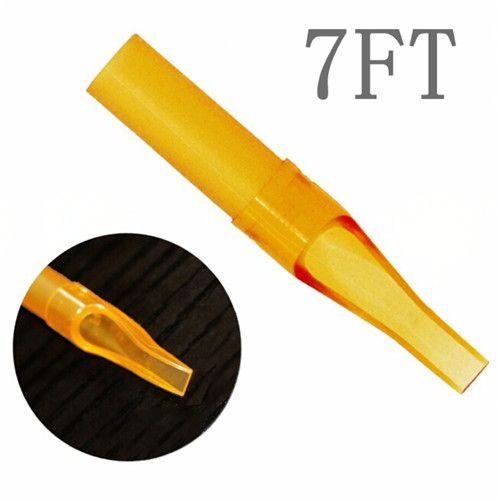 7FT 50 PCS Descartável Bico Tatuagem Amarela Dicas Dicas De Plástico Para Máquina De Tatuagem Abastecimento Frete Grátis