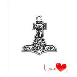 Tibetan-Silver-Plated-Viking-Mjolnir-Thor-Hammer-Knot-Pendant-Charms-Gothic-Biker-DIY-Jewelry-Making-Wholesale