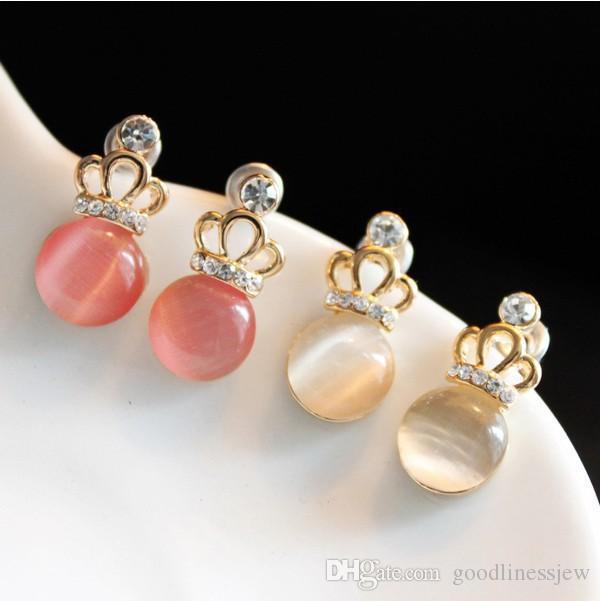 Earings for Woman Charm Ear Studs Pendientes Fashion Elegant Cute Crown Crown Charming Stud Pendientes