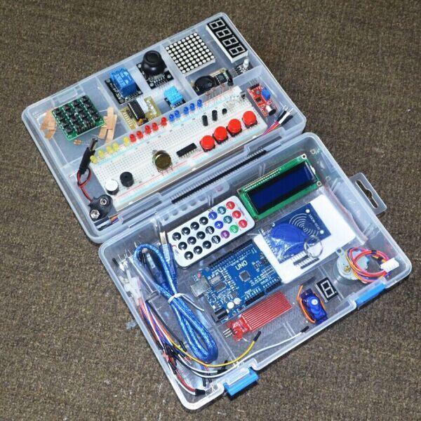 الجملة ، أحدث RFID كاتب كيت لاردوينو UNO R3 نسخة مطورة التعلم جناح مع صندوق البيع بالتجزئة