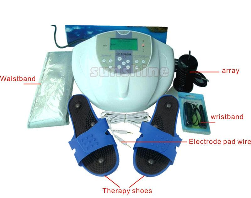 Home Use Detox Foot Foot Spa Machine With Therapy Ion Cleanse Foot Spa Machine ionic detox foot spa with FIR belt &electric slipper