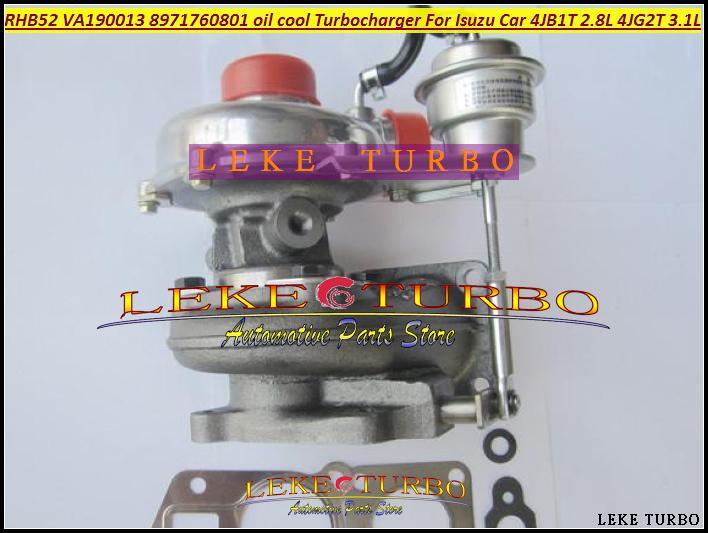 Turbo For ISUZU Car Engine 4JB1T 2.8L 4JG2T 3.1L RHB52 VA190013 8971760801 oil cooled Turbocharger with Gaskets (5)