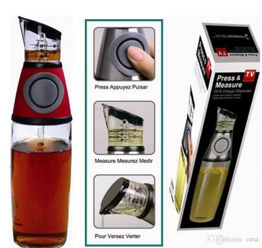 Practical Metering bottle pressing type quantitative scale health pot seal oil measure bottle kitchen tools 50Pcs