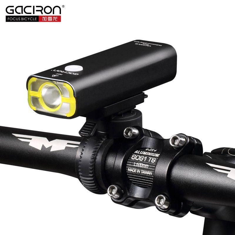 Gaciron الدراجات ماء بقيادة أضواء USB قابلة للشحن البسيطة الدراجة 400Lumens المقود الجبهة الضوء اكسسوارات دراجات