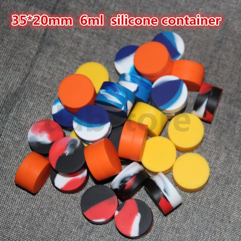 6 ml contenitore antiaderente in silicone per 6 ml cera bho olio butano vaso vaporizzatore silicio vasetti Dab contenitore di cera spedizione gratuita