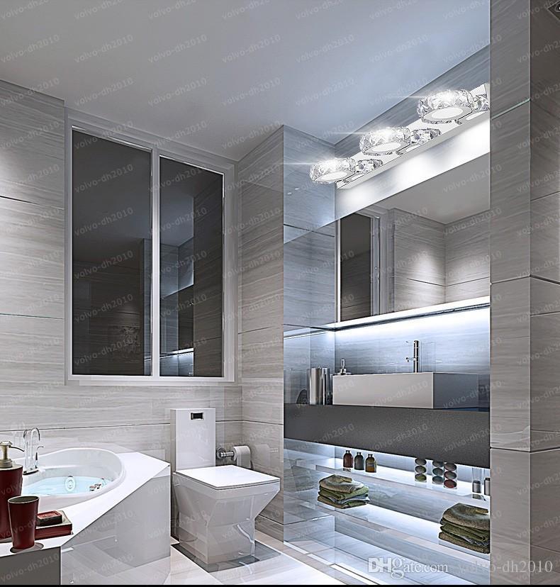 Großhandel Moderne K9 Kristall LED Badezimmer Make Up Spiegel Licht  Wandlampen Lampe 85 265V Edelstahlschrank Eitelkeit Beleuchtung LLFA Von  Volvo ...