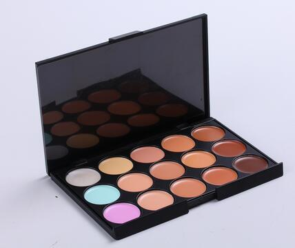 Professional Facial Concealer Cream Foundation 15 Color Makeup Palette Pro Tool Concealer Palette 2016 Best Selling