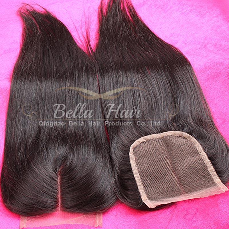 New Arrival !Middle Part Lace Closure Hair Weaves Malaysian Virgin Human HairWeavesClosure 4x4 straight Bellahair