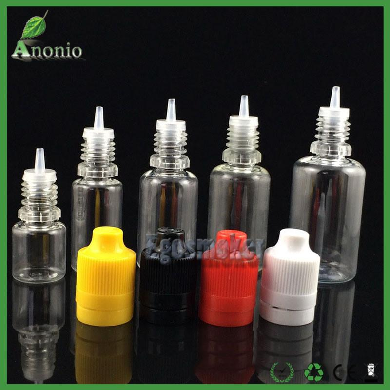 Vape E Liquid Bottles For Sale 5ml 10ml 15ml 20ml 30ml 50ml Plastic Dopper Empty bottles Child proof Tamper Evident Cap Ejuice Bottles