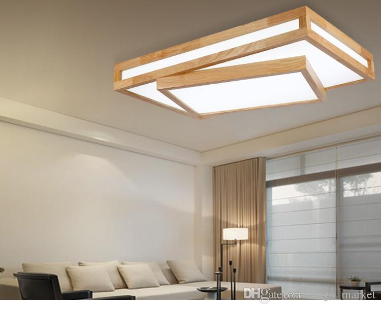 Plafoniere No Led : Modern led ceiling lights wood lighting plafoniere kids