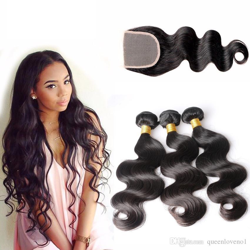 브라질 바디 웨이브 헤어 번들 아기 머리카락 마감 처리되지 않은 인간의 머리카락 직물 자연 블랙 컬러 염색 될 수 있습니다.