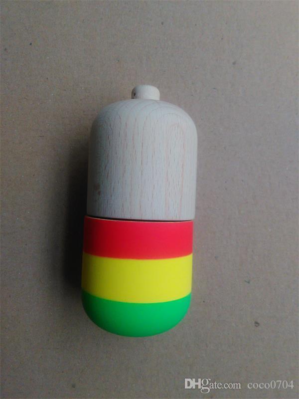 20pcs gomma forma della pillola Kendama palla giocattolo divertente bahama tradizionale legno gioco giocattolo abilità tazza kendama palla bambini giocattolo educativo giocattolo per adulti