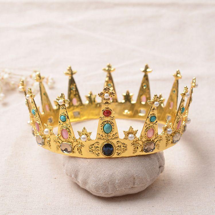 golden mittelalterliches alte barockes Thema Diademe Haardekoration Partei / Ballett / Bühne Prinzessin Bühnenaufführung Kopfbedeckungen