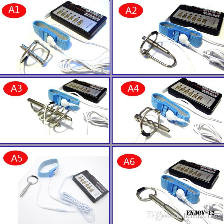 DIY 전기 Urethral 사운드 마사지 슬림 맥박 자극 전기 충격 Urethral 카테 테르 음경 플러그 Dilator에 대한 남성 A243 - 1