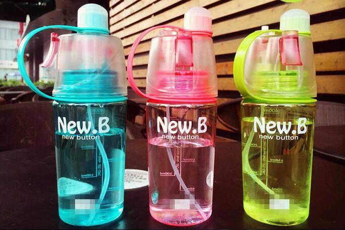 Горячая 400 мл моя бутылка воды спорт спрей бутылка 400 мл Велоспорт открытый увлажняющий шейкер прозрачный путешествия пластиковые воды кемпинг Drinkware