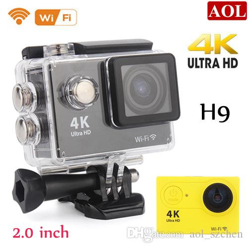 Sports Action camera H9 Ultra HD 4K WiFi 1080P/60fps 2.0LCD 170D lens Helmet Cam underwater waterproof camera SJ4000 style