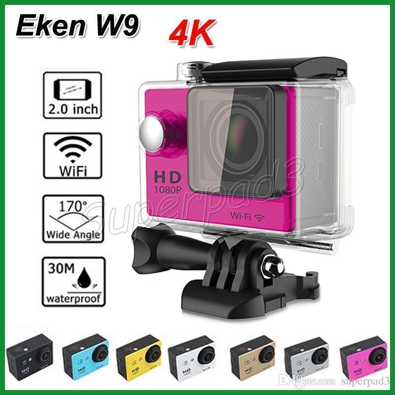 """10 pcs DHL Livre 30 M À Prova D 'Água 4 K Câmera Esportiva SJ6000 Estilo EKEN W9 HD Câmera de Ação de Mergulho Versão Wi-fi 1080 P 2 """"LCD 170 Wide Angle"""