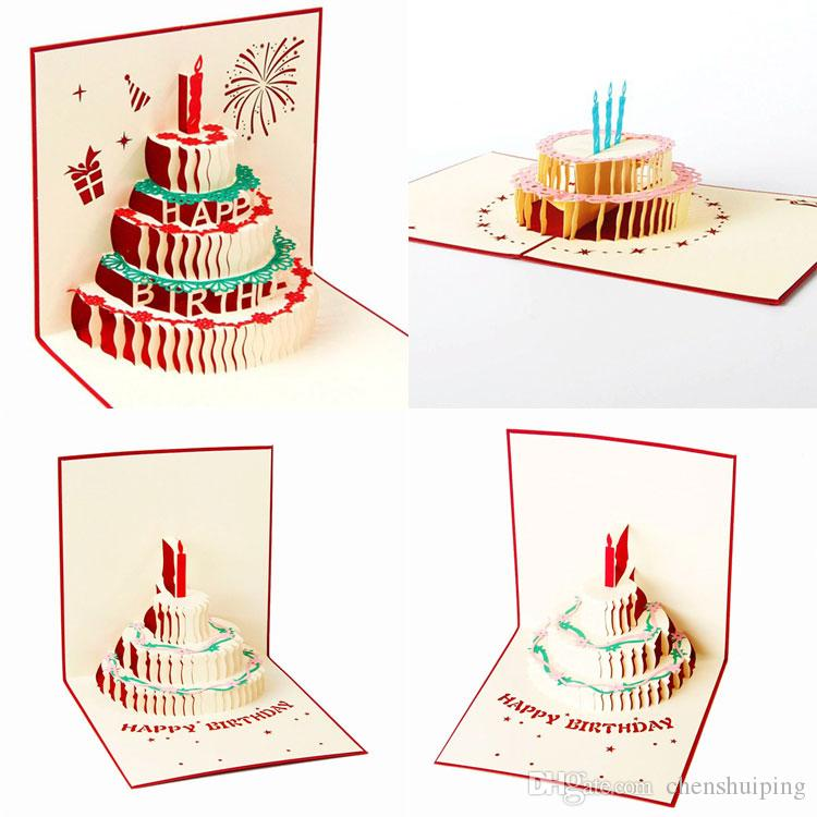 Cool New Handmade Kirigami Origami 3D Pop Up Birthday Cards With Funny Birthday Cards Online Alyptdamsfinfo