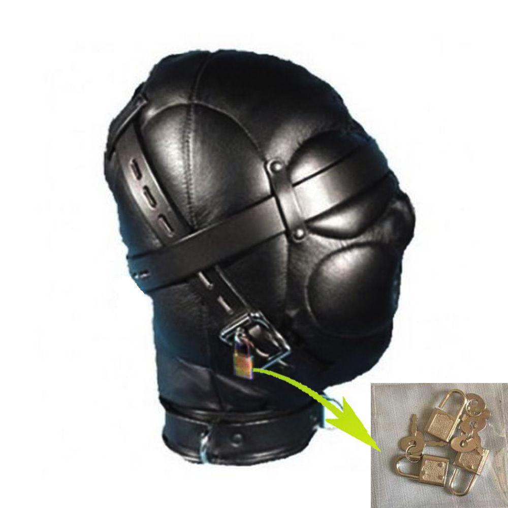 New Sexy Sensory Privação Capa Gimp Máscara Blindfold Fetish Roleplay Submissão # R172
