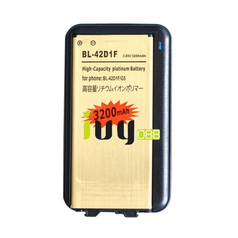 1x 3200mAh BL-42D1F استبدال البطارية الذهبية + شاحن عالمي لشركة إل جي G5 H868 H860N H850 F700L
