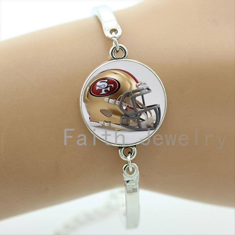 Personalized boys accessory case for casual team golden helmet picture bracelets super cool sport team bracelet NF090