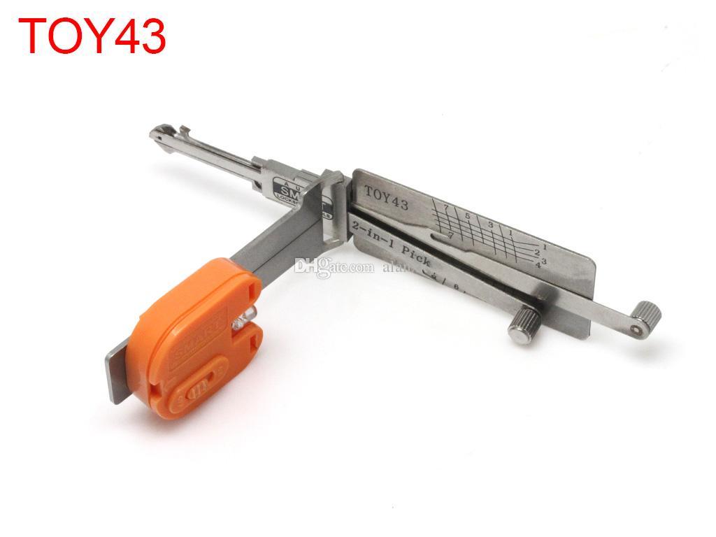 Smart 2 in 1 TOY43 Lese Kai Opener Verschluss-Auswahlwerkzeug Schlosser für Toyota
