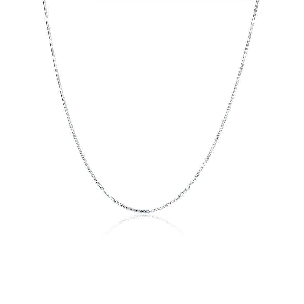 الأزياء والمجوهرات سلسلة الفضة 925 سلسلة ثعبان قلادة للنساء 1 ملليمتر 16 18 20 22 24 بوصة