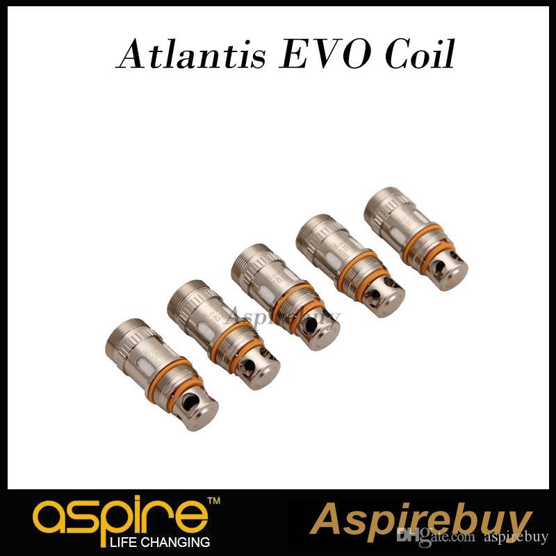 Aspire Atlantis EVO Bobina de Substituição de 0,4 ohm 0.5 ohm Clapton Bobinas Para Aspire Alalantis EVO Tanque Denser Vapor 100% Original