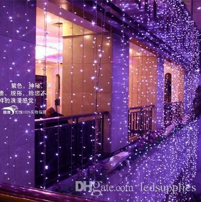 6Mx3M 600 LED занавес свет водопад открытый Рождественская строка Фея огни свадьба сад отель украшения 220 В 110 В лампа