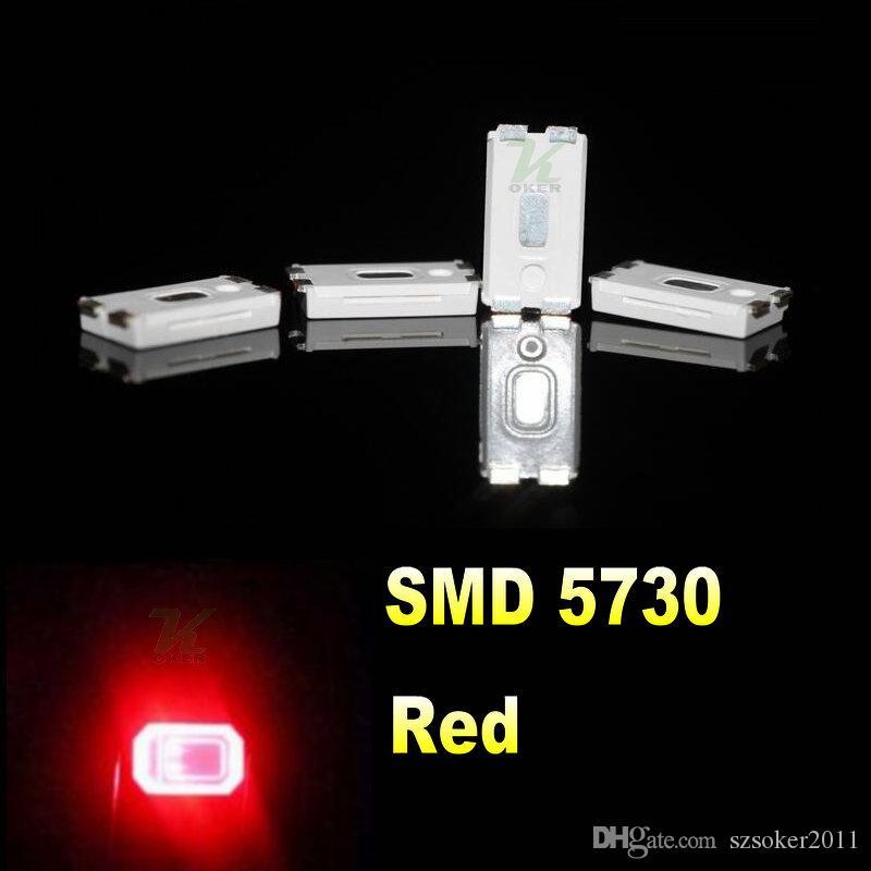 4000pcs / 릴 0.2W SMD 5730 5630 빨간색 LED 램프 다이오드 울트라 밝게