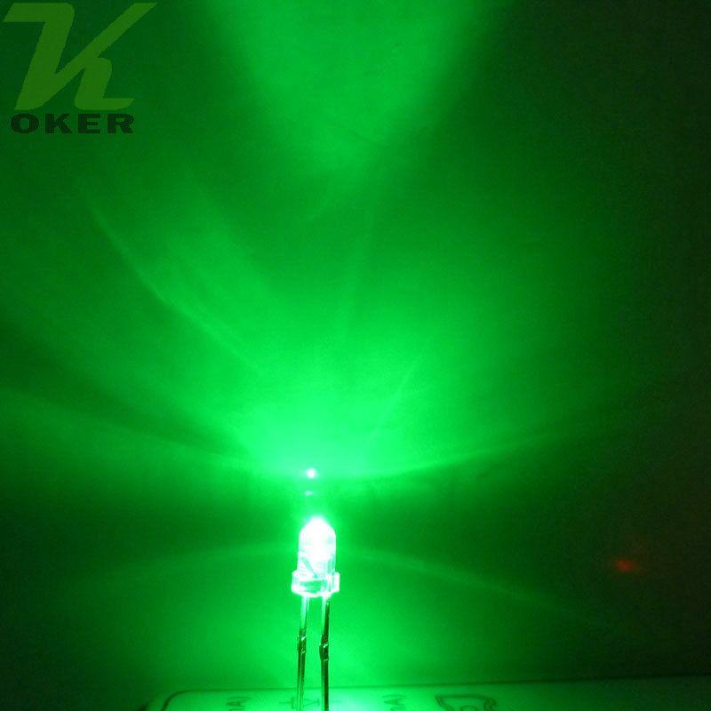 1000pcs 3mm grüne runde Wasser-klare LED-Licht-Lampe führte Dioden Freies Verschiffen 3mm grüne geführte Lampen