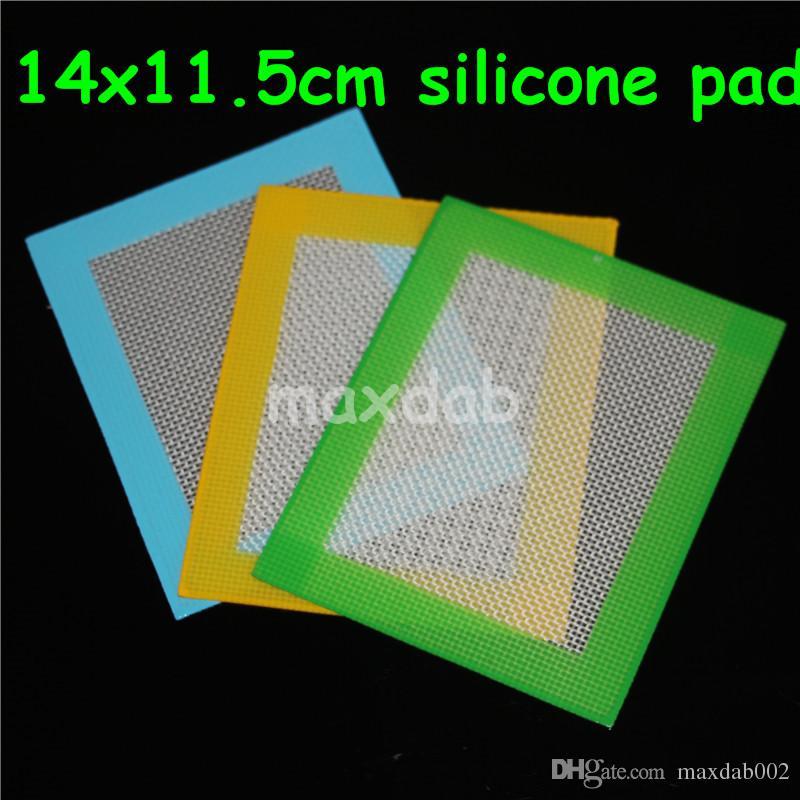 100 pz silicone stuoie di cera quadrati fogli pastiglie mat barile tamburo 26 ml contenitore di olio di silicone dabber strumento per vetro bong nector collettore