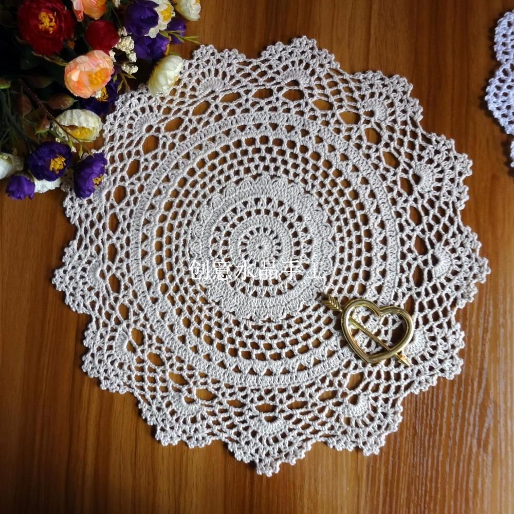 Wholesale- 2016 new arrival 100% natural cotton crochet lace doily with cutout flower for home decor fabric tableware kitchen accessories