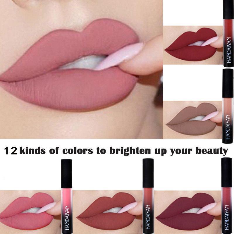 Brand New Women Makeup Sexy Red Lip Matte Liquid Lipstick Waterproof Long Lasting Nude Lip Gloss Matte Lip Tint Cosmetics RF0541