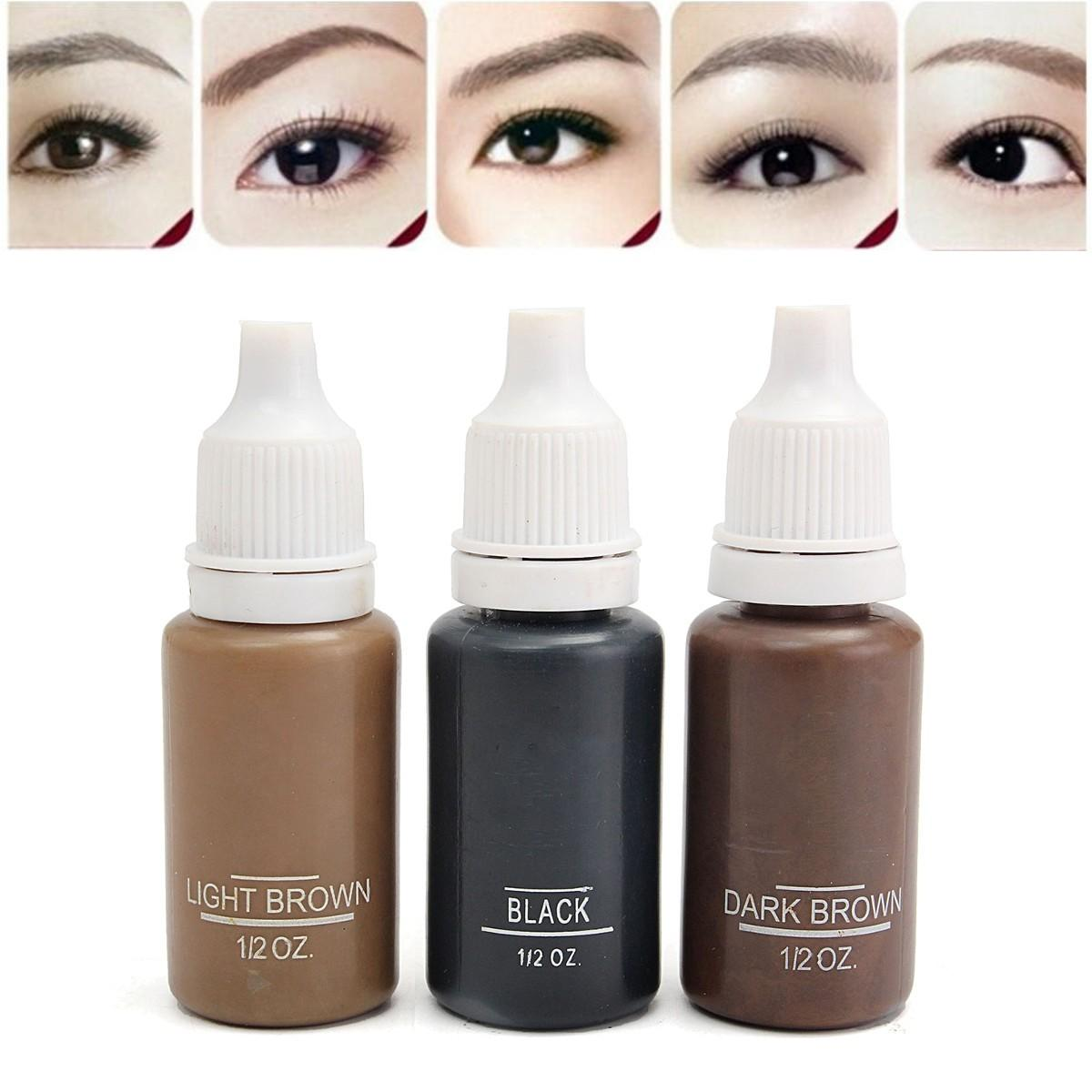 Wholesale Tattoo Ink 3 Different Colors For Permanent Makeup Tattooing Eyebrow Eyeliner Lip 15ml Cosmetic Manual Paint Pigments Red Ink Tattoo Tatoo