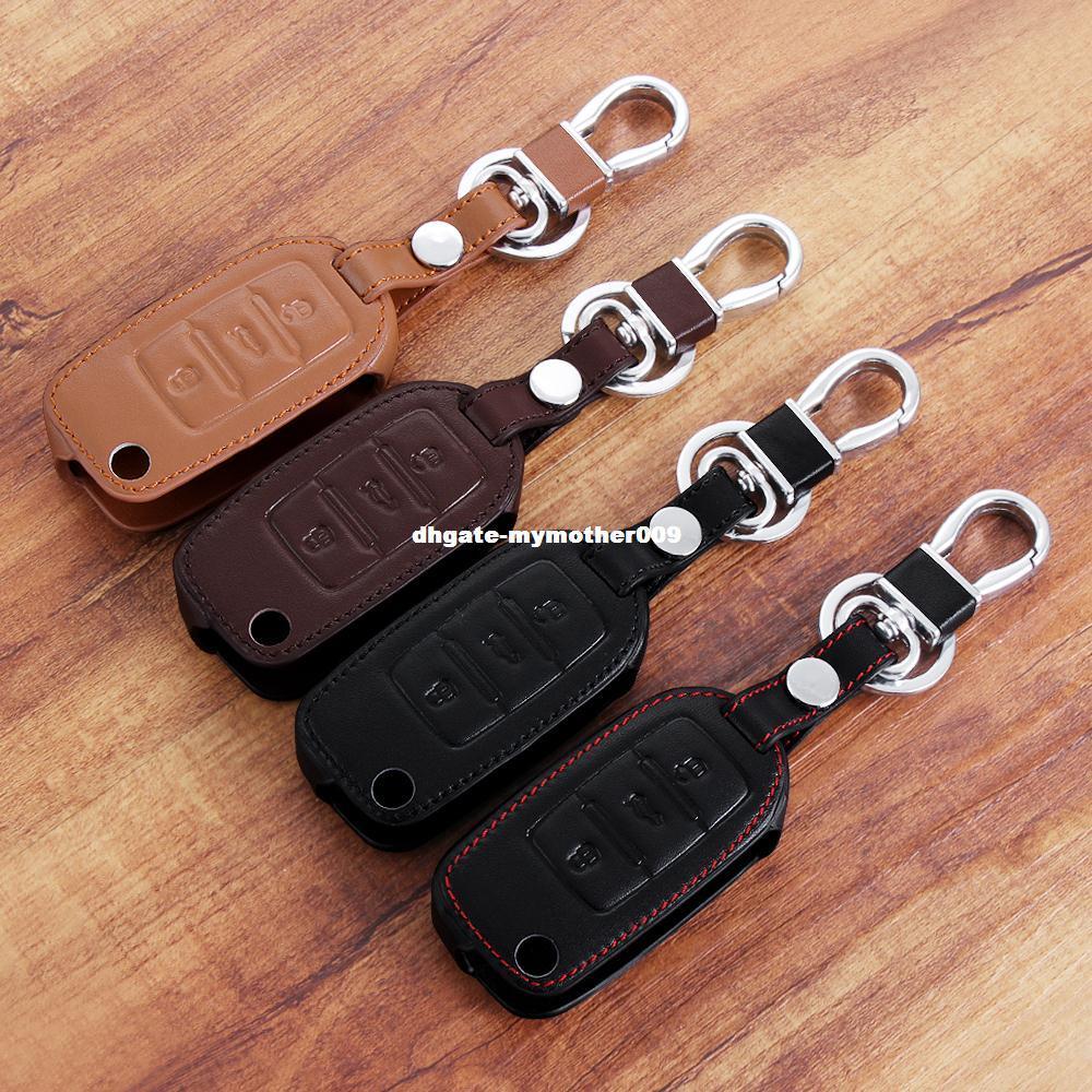 New Design Leather car key cover For Volkswagen VW POLO Tiguan Passat B5 B6 B7 Gol Golf 4 5 6 EOS Scirocco Jetta MK4 MK5 MK6