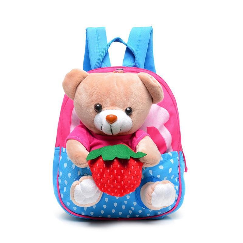 Enfants sacs d'école de bande dessinée ours poupées Applique toile sac à dos Mini bébé livre livre sac à dos maternelle sacs à dos Mochila Infantil