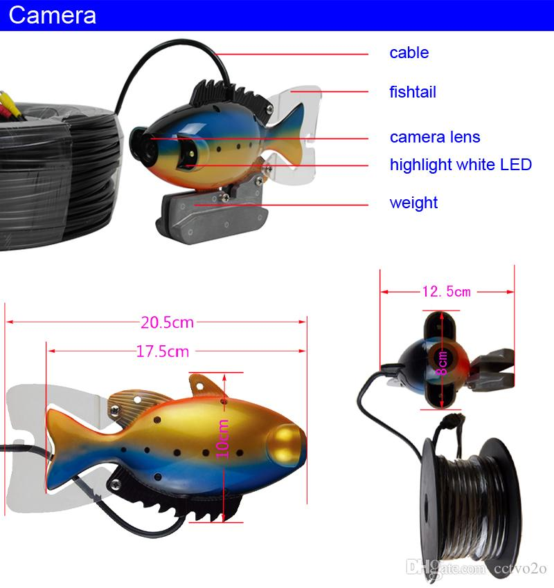 30m hd deep water underwater fishing camera 7 lcd monitor video, Fish Finder