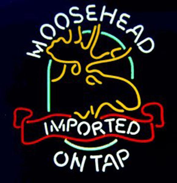 """Moosehead Beer Moose Neon Sign Custom Handmade Real Glass Tube Store Beer Bar KTV Club Pub Advertising Display Neon Signs 20""""X24"""""""