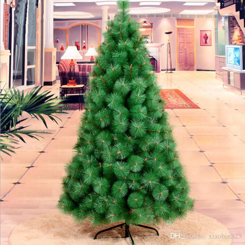 Neujahrsgeschenk 1,5m / 150cm Tannennadeln Weihnachtsbaum Großhandel Weihnachtsschmuck Weihnachten Lieferungen Home Hotels