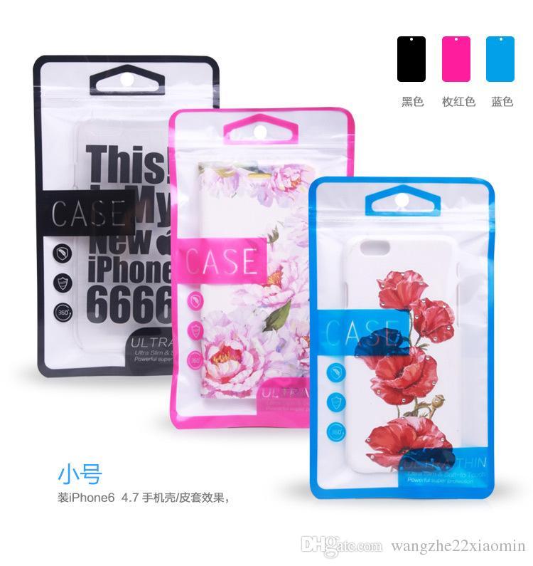 300pcs grossist kraftfullt superskydd dragkedja plast detaljhandel förpackning väska för telefonväska till iPhone 5s 6 6Plus