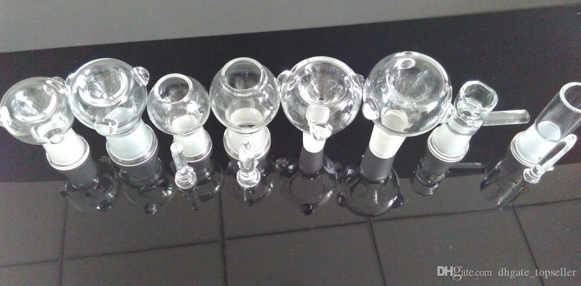 Großhandel Glaskuppel und Schüssel Ölbohrinsel Dabber Glas Bubbler Wasserrohr 50 Stück / Menge Glasschalen Rauchen Schüssel weiblich männlich 14mm 18mm